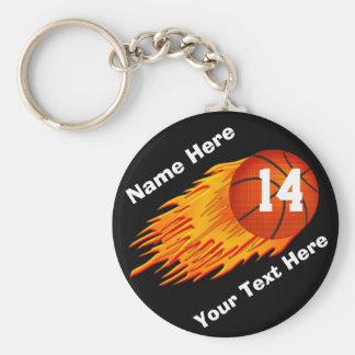 Porte - clés de basket-ball personnalisés flamber porte-clé rond