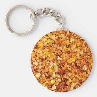 Porte-clés de feuille d'automne