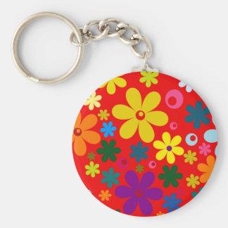 Porte-clés ~~ de FLOWER POWER (une rétro conception florale