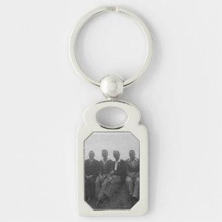 Porte-clés De jeunes hommes de jour porte - clé blanc en