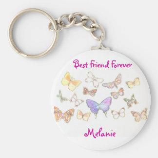 Porte-clés De meilleur ami porte - clé de papillon pour