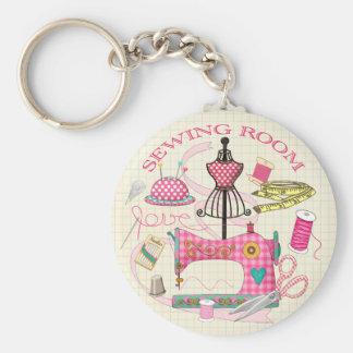 Porte-clés de pièce de couture