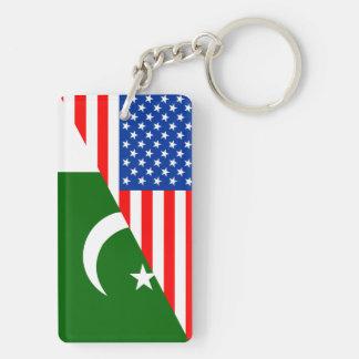 Porte-clés de symbole de l'Amérique de drapeau de pays des