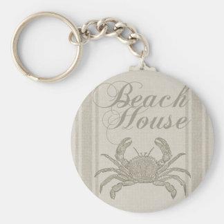 Porte-clés Décor côtier de Sandy de crabe de Chambre de plage