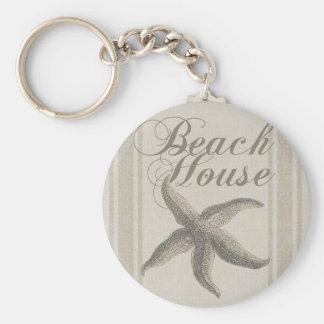 Porte-clés Décor côtier de Sandy d'étoiles de mer de Chambre