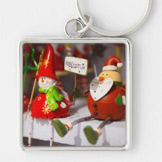 Porte-clés Décor de Noël de figurines de vacances de bonhomme