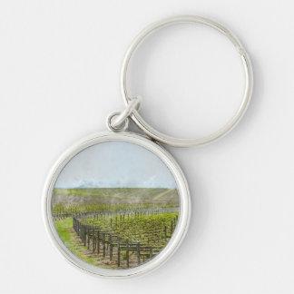 Porte-clés Décor de vin et de raisin