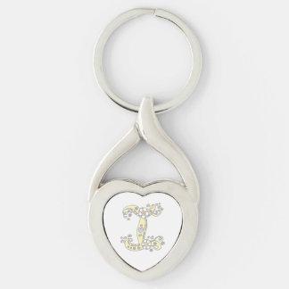 Porte-clés décoratif de la lettre initiale I de
