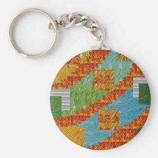 Porte-clés Décoration exotique de collage d'art par