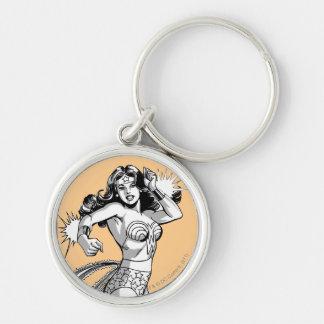 Porte-clés Défenseur noir et blanc de femme de merveille