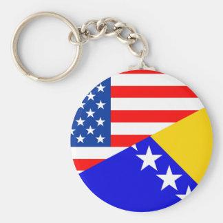 Porte-clés demi de drapeau des Etats-Unis Amérique