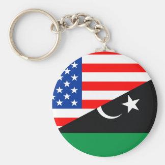 Porte-clés demi de drapeau Etats-Unis des Etats-Unis Amérique