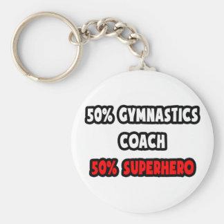 Porte-clés Demi de super héros d'entraîneur de gymnastique… à