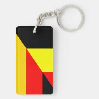Porte-clés demi de symbole de pays de drapeau de l'Allemagne