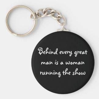 Porte-clés Derrière chaque grand homme