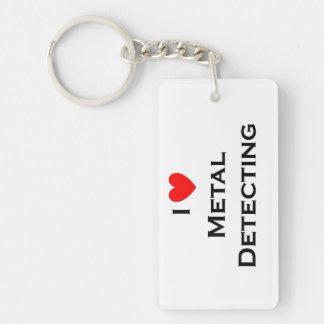 Porte-clés Détection en métal d'amour ; Dollar en argent