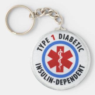 Porte-clés Diabétique de type 1