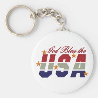 Porte-clés Dieu bénissent les Etats-Unis