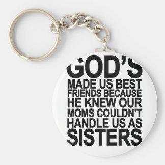 Porte-clés Dieu nous a fait des meilleurs amis puisque… png