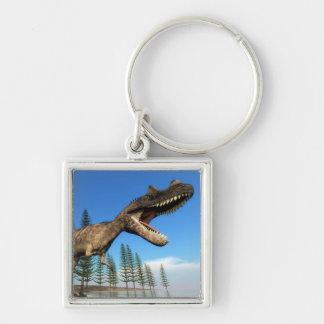 Porte-clés Dinosaure de Ceratosaurus au rivage