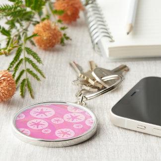 Porte-clés Dollar de sable blanc et rose