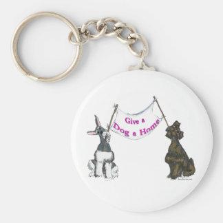 Porte-clés Donnez à un chien une maison
