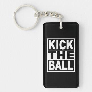 Porte-clés Donnez un coup de pied la boule