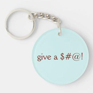 Porte-clés Donnez un $#@ ! , Vont le végétalien