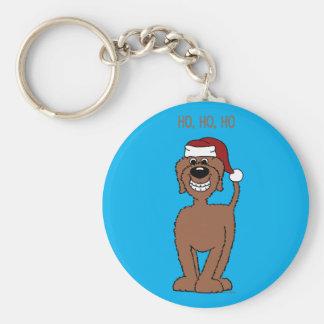 Porte-clés Doodle Santa brun