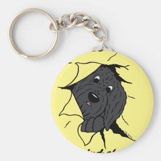 Porte-clés Doodle tête noir