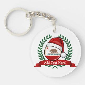 Porte-clés Drapeau de la Californie dans un casquette de Père