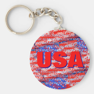 Porte-clés Drapeau de pays patriotique des Etats-Unis