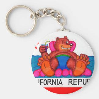 Porte-clés Drapeau de pieds d'ours de la Californie