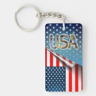 Porte-clés Drapeau des Etats-Unis