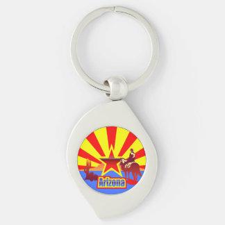 Porte-clés Drapeau d'état de l'Arizona