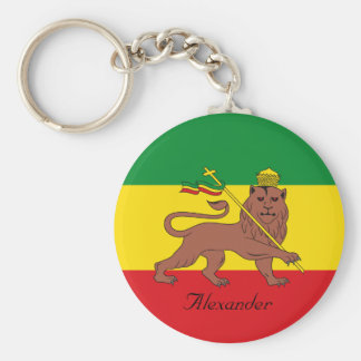 Porte-clés Drapeau fait sur commande de Rastafarian de lion
