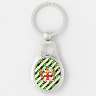 Porte-clés Drapeau jamaïcain de rayures