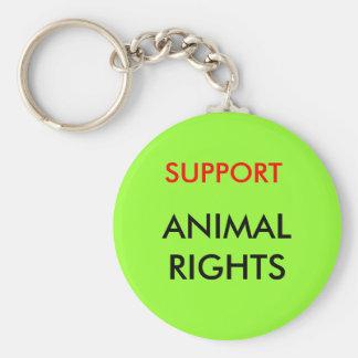 Porte-clés Droits des animaux porte - clé, vert