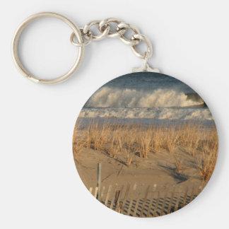 Porte-clés Dunes de ville d'océan avec des vagues