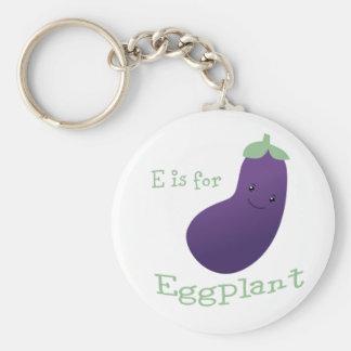 Porte-clés E est pour l'aubergine