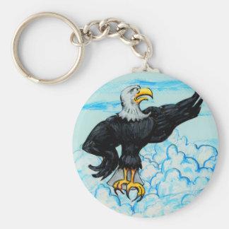 Porte-clés Eagle chauve américain grincheux
