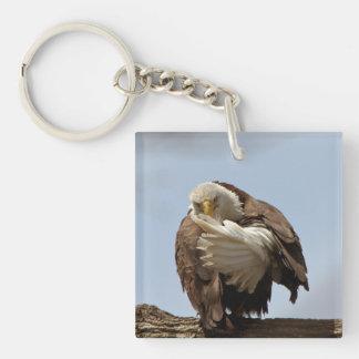 Porte-clés Eagle chauve (oiseau donnant l'oiseau)