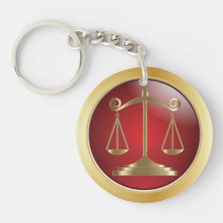 Porte-clés Échelles d'avocat de la loi | de la justice |