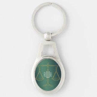 Porte-clés Échelles d'or élégantes de justice