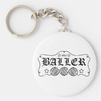 Porte-clés écheveau drôle de boule de fil à tricoter d'humour