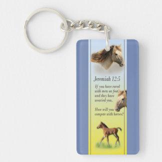 Porte-clés Écriture sainte acrylique de bible de Jérémie de