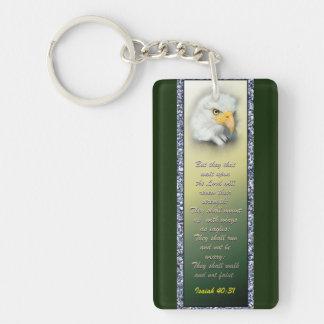 Porte-clés Écriture sainte acrylique Eagle de porte - clé