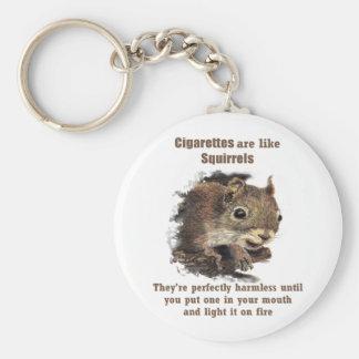 Porte-clés Écureuil de motivation de tabagisme stoppé drôle