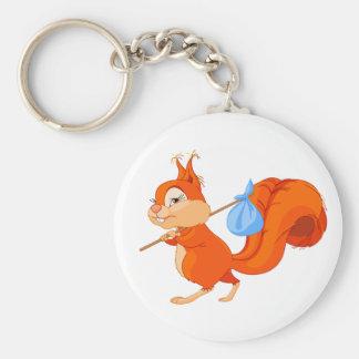 Porte-clés Écureuil laissant le porte - clé à la maison
