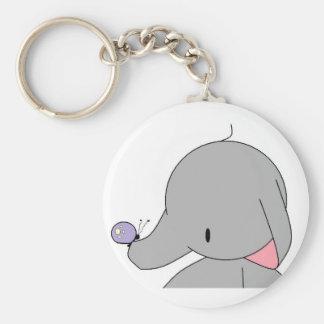 Porte-clés éléphant avec le porte - clé de papillon